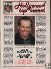Coupure de presse Clipping 1989 Jack Nicholson  (3 pages)