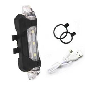 Light-Lamp-USB-Rechargeable-5-LED-4-Modes-Bike-Bicycle-Cycling-Front-Rear-Tail
