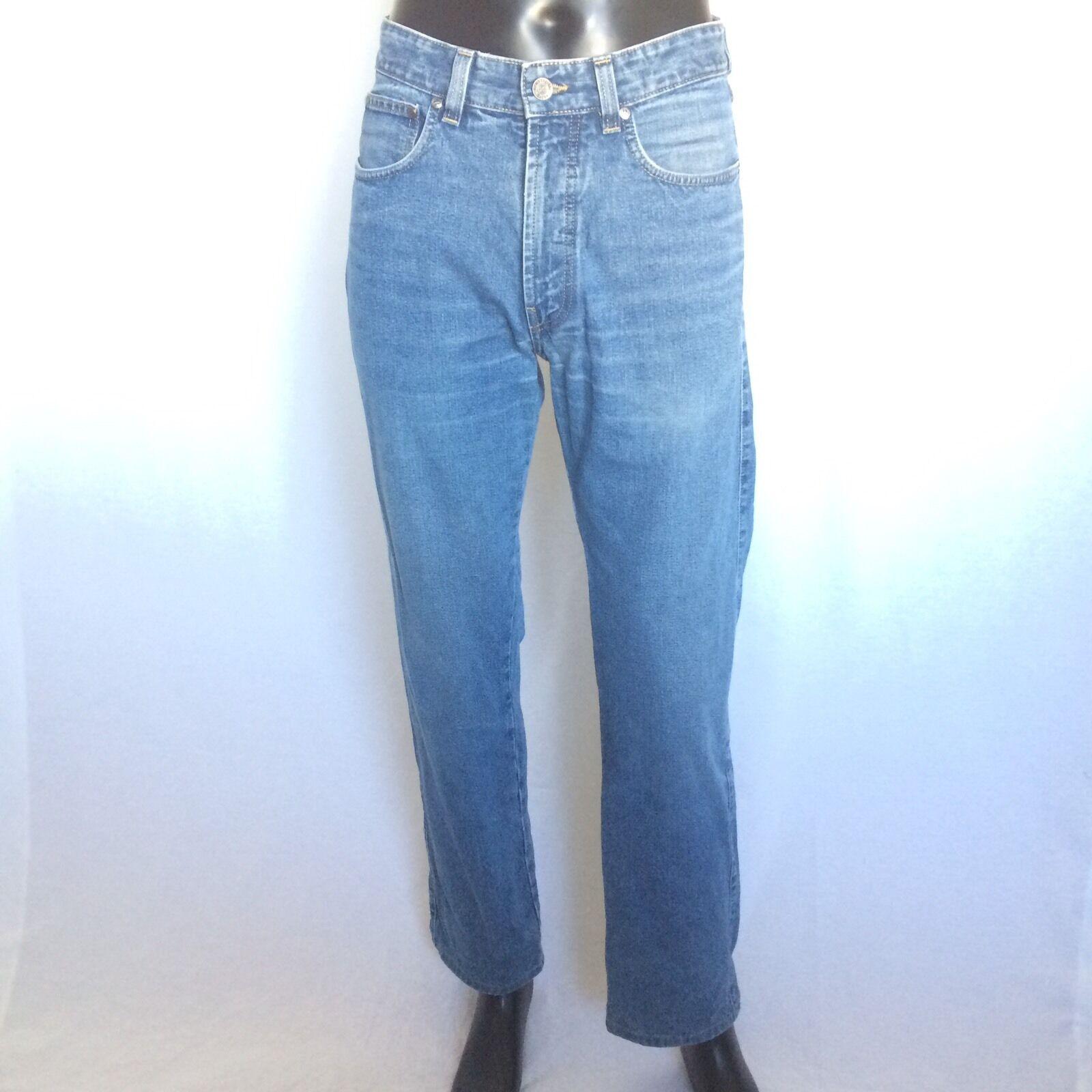 Ermenegildo Zegna Mens Designer Jeans Size 32 x 32 Straight Leg  Denim bluee