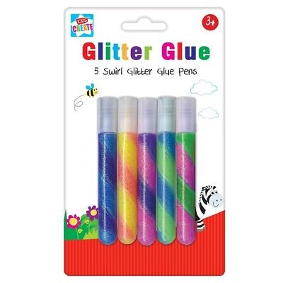 Gel Pens 6 Pack Art Crafts Stationery School Children Project Tallon Colour Ink