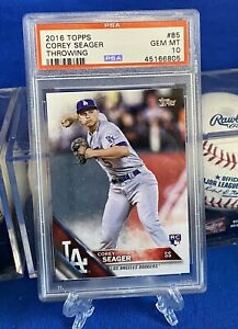 COREY SEAGER, 2016 Topps SP, Rookie Card, Dodgers, PSA 10, World Series NLCS MVP