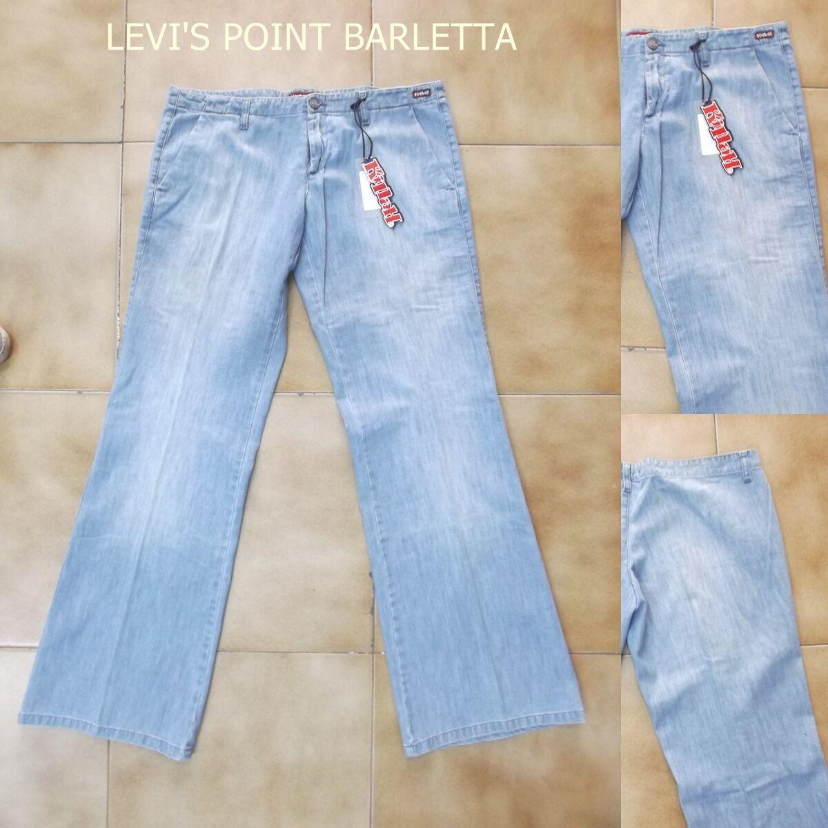 Jeans Jeans Jeans Killah A Palazzo Donna A Zampa D'elefante Vita Bassa Celeste Tg W 31 W 33 59d2d0