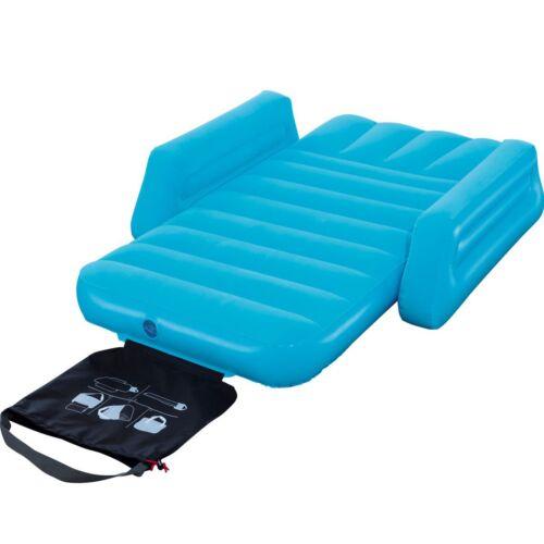 aufblasbar Luftbett Kinder Gäste Bett Reise Camping Luft Matratze mit Armlehne