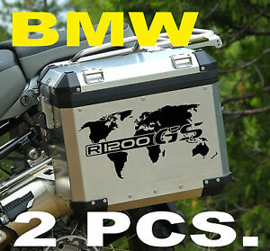Bmw motorcycle r1200gsgsa world map lrnnierscases decal image is loading bmw motorcycle r1200gs gsa world map l r panniers gumiabroncs Image collections