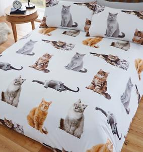 CATS DUVET SET  COVER & PILLOWCASES  SINGLE DOUBLE KING PET