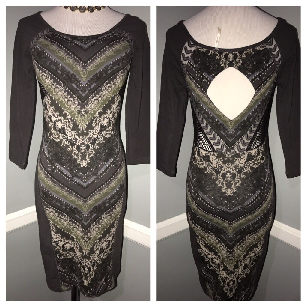 3b4d88bd27 New Free People multi color cut cotton size XS dress out nybzst2882-Dresses