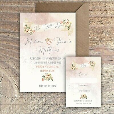 25 Poems Wedding Blessing//Renewal of Vows Invitations Blue 25 Invitations