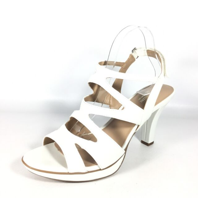 a656ff4589a Naturalizer Dianna Women s Size 11 M White Heel Dress Sandals. for ...