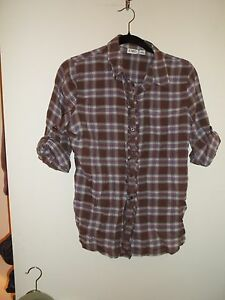 337c20b2 Women's CATO Brown & Red Plaid Shirt, Top, Blouse - Size S (Small ...