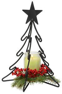 3D CHRISTMAS TREE Large Wrought Iron Candle Stand Holiday Decor USA HANDMADE