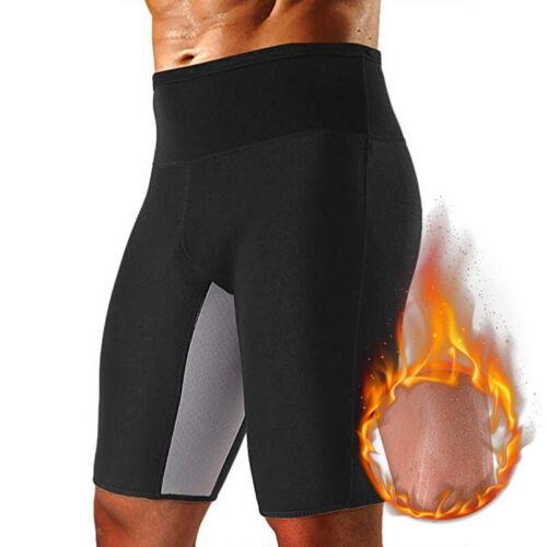 Herren Body Shaper Shorts Hot Thermo Slimming Sauna Hose Gewicht Verlust P//D