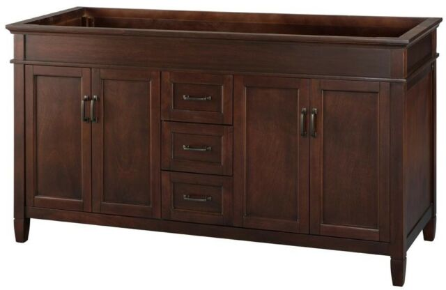 Home Decorators Collection 60 in Bath Vanity Cabinet Only Double Sink Bronze