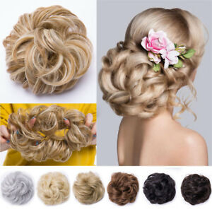 UK Curly Messy Bun Hair Piece Scrunchie Hair Bobble Scrunchie ... fc3d6e30cad