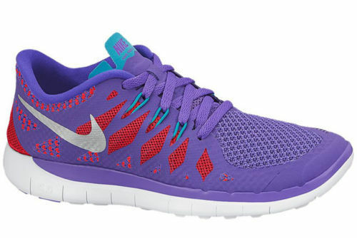 68de08f0b3ad Nike Run 5.0 GS 2014 Sz 7y Purple Red Teal Running Shoes SNEAKERS for sale  online