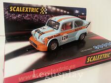 """Slot SCX Scalextric 6119 Fiat 600 Abarth """"Gulf"""" Nº 129"""