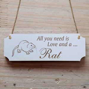 Türschild Dekoschild « Ratte » Rat