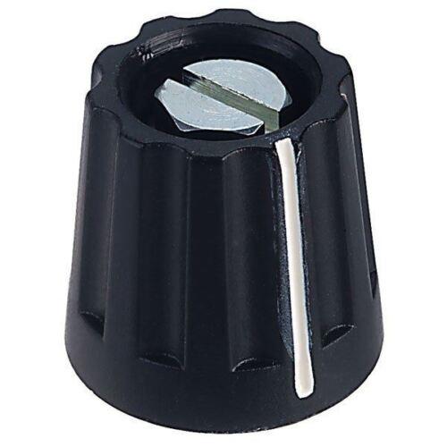 Mentor 4332.6000 plástico Girando Perilla mate con pinza de fijación ø 20 mm