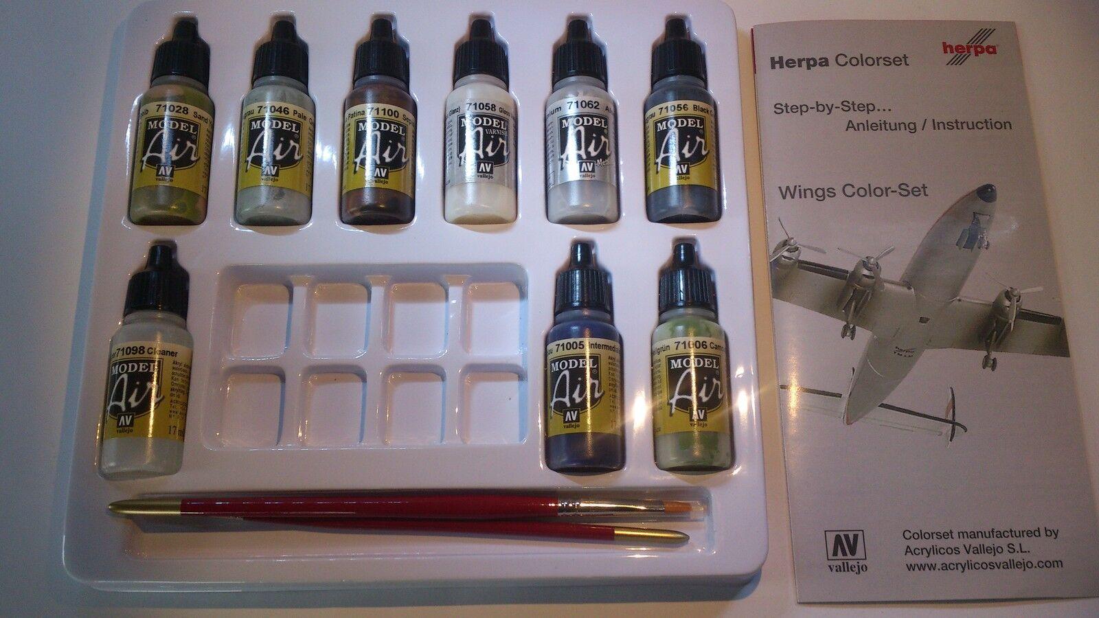 Herpa 371025 Herpa Weathering Colour Set - Wings