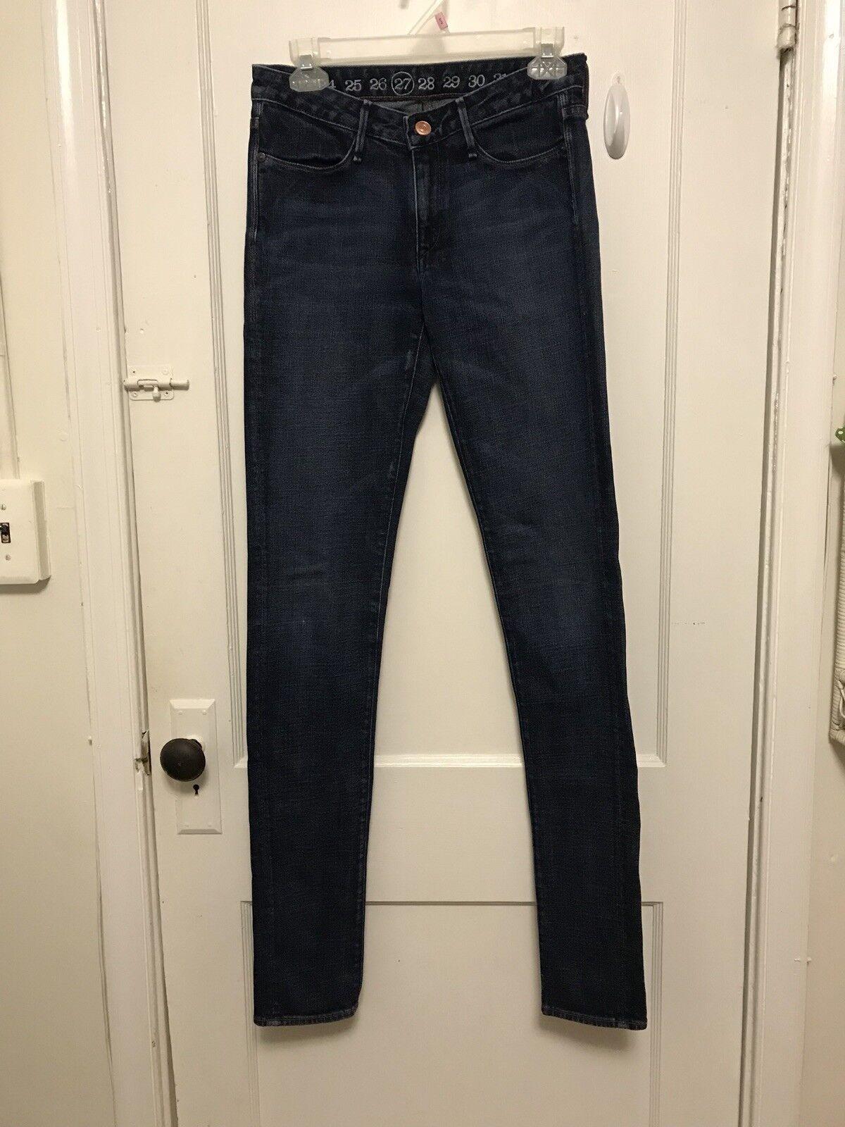 Earnest Sewn Dark Wash Ankle Skinny Jeans Denim size 27