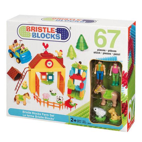 Bristle Blocks 67 Teile Farm Set - Steckspielzeug Noppenbausteine