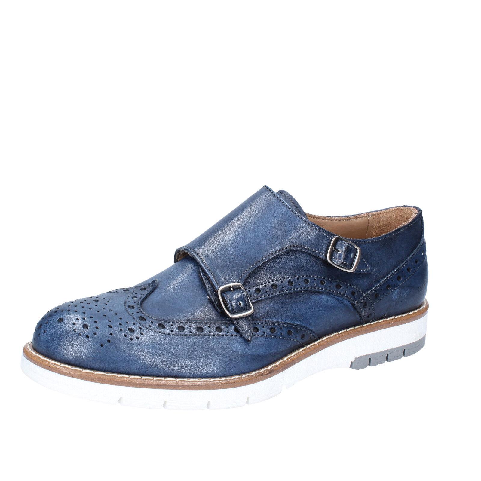 Herren schuhe DI MELLA 43 EU elegante elegante elegante blau leder AB927-D 5ba245