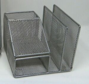 Tremendous Details About Rubbermaid 4 Section Desk Organizer Silver Wire Mesh Office Supply Home Remodeling Inspirations Cosmcuboardxyz