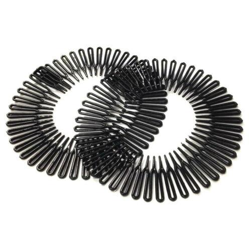 2pc Set Zig Zag Flexi Hair Comb Head Band Headband Stretch COMBS Plastic Tooth