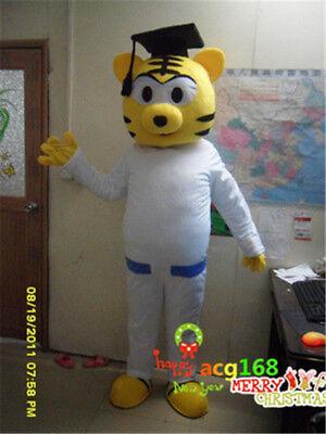 Tiger Adults Halloween Cartoon Mascot Costume Party Cosplay Birthday Fancy Dress