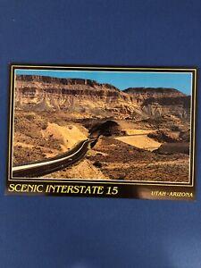 Vintage-Postcard-The-Virgin-River-Gorge-Utah-Arizona-Scenic-Interstate-15