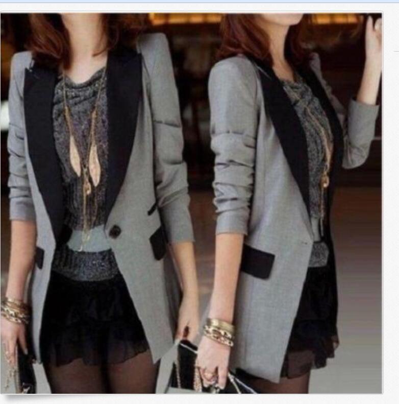 One Button Korean Fashion Women's OL Formal Slim Casual Small Suit Blazer Coats
