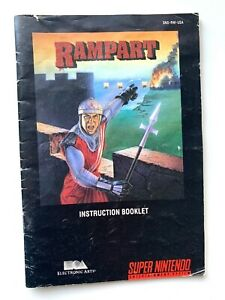 Rampart-SNES-Super-Nintendo-Instruction-Manual-Only-Booklet-Book