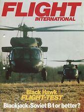 SIKORSY UH-60A HELICOPTER FLIGHT INTERNATIONAL 1983 REPRINT - BLACK HAWK TEST