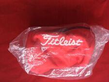 Titleist Pch9 Golf Ball Pouch Bag Carry Case Red