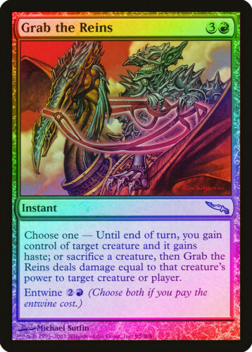 Grab the Reins FOIL Mirrodin NM Red Uncommon MAGIC THE GATHERING CARD ABUGames