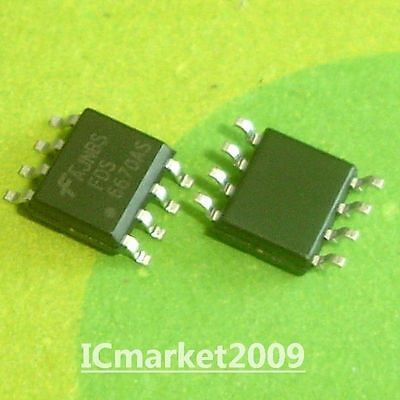 10PCS 6670AL FDB6670AL TO-263 N-Channel Logic Level PowerTrenchTM MOSFET