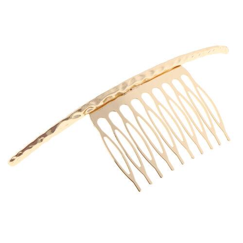 Retro Blank Metal Hair Comb Clips für Hochzeit Braut Haarschmuck