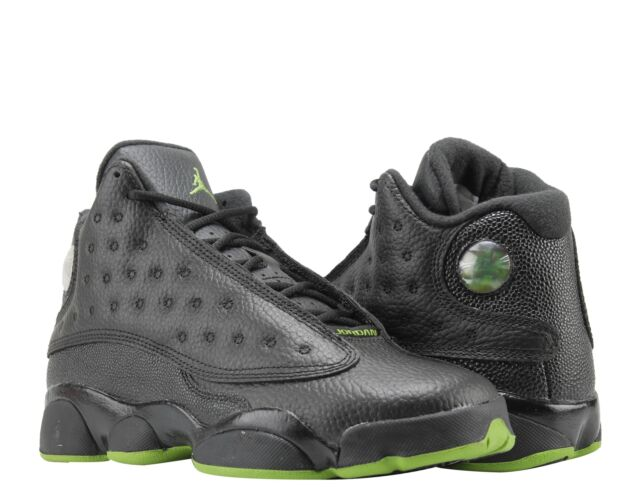 huge selection of d28d1 f1f2e Kids Air Jordan 13 XIII Retro GS Altitude Green Black 414574-042 US 6y