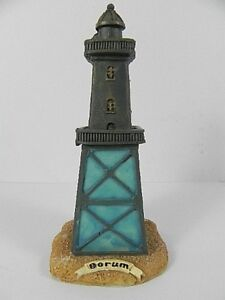 Gelernt Leuchtturm Dorum Nordsee Niersachsen,13 Cm Poly Modell,neu, Antiquitäten & Kunst