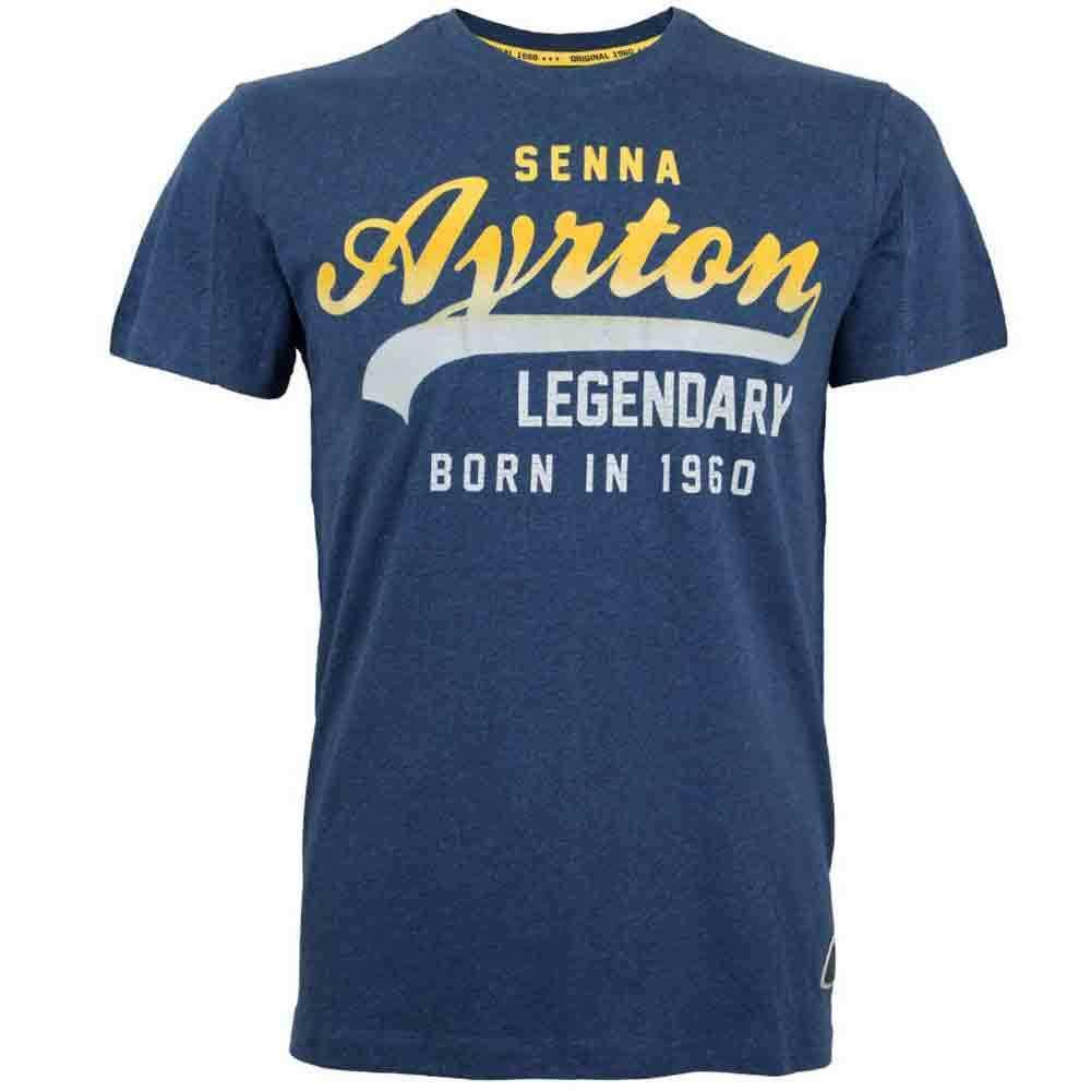 AYRTON AYRTON AYRTON Senna Vintage blu T-shirt-X Large 95c490