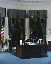 President John F. Kennedy poses for portrait at Oval Office desk New 8x10 Photo