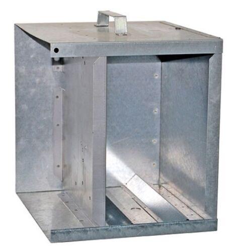 Metall Akkukasten für Weidezaungerät und Weidezaunbatterie Anti Diebstahlkasten