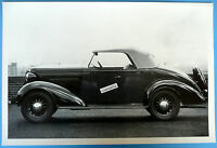 12 By 18 Black & White Picture 1936 Chevrolet Roadster Top Up