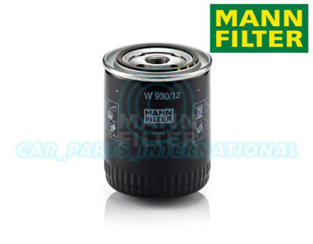 Mann Hummel Repuesto de Calidad OE Filtro de Aceite Del Motor W 930/12
