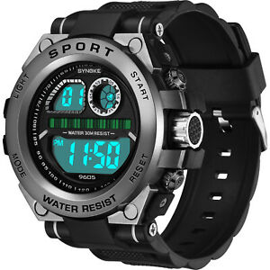 SYNOKE-Men-039-s-LED-Multifunctional-Shock-Digital-Alarm-Sports-Military-Wrist-Watch