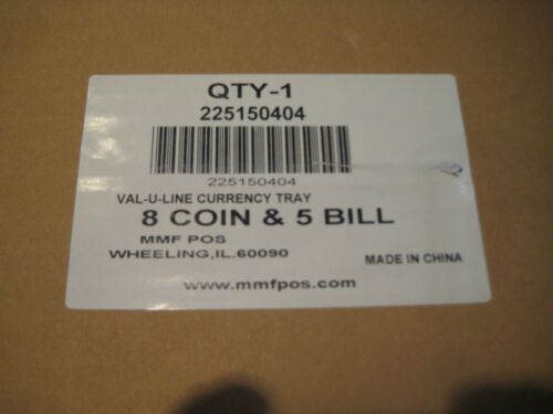 NEW-MMF Val-u Line CASH TRAY 8 coin //5 Bill INSERT US Configuration 225-1504-04