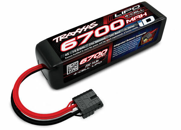 TRAXXAS ID LIPO BATTERIA 6700mah 14,8v 4s 4 celle 25c  per Traxxas X-MAXX 8s 2890x  prima qualità ai consumatori