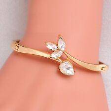 Trendy Golden Leaf Crystal Bracelet for girl women