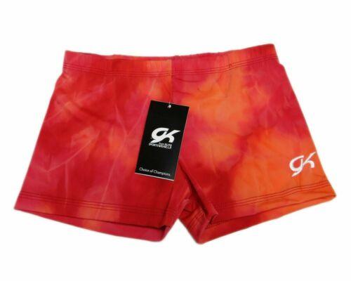 Tie Dye GK Elite Gymnastics Shorts CXS Child Extra Small 0343
