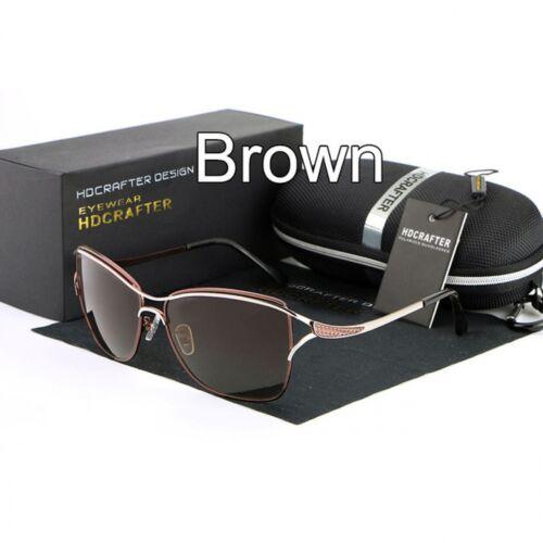 Femmes Cat Eye Lunettes de Soleil Designer Metal Frame Polarized Qualité lunettes mode
