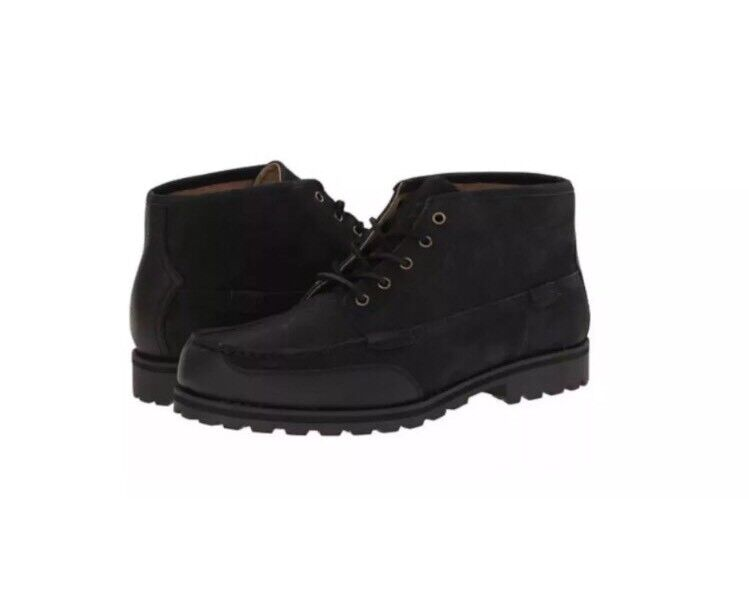 Polo Ralph Lauren Men's Waterton Chukka Boot Black Nubuck Leather Size 12